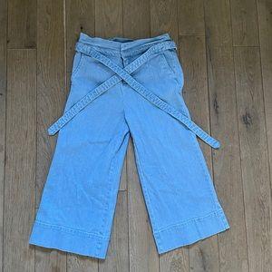 High waisted denim pants